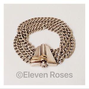 Gucci Sterling & 18k Gold Multi Chain Bracelet
